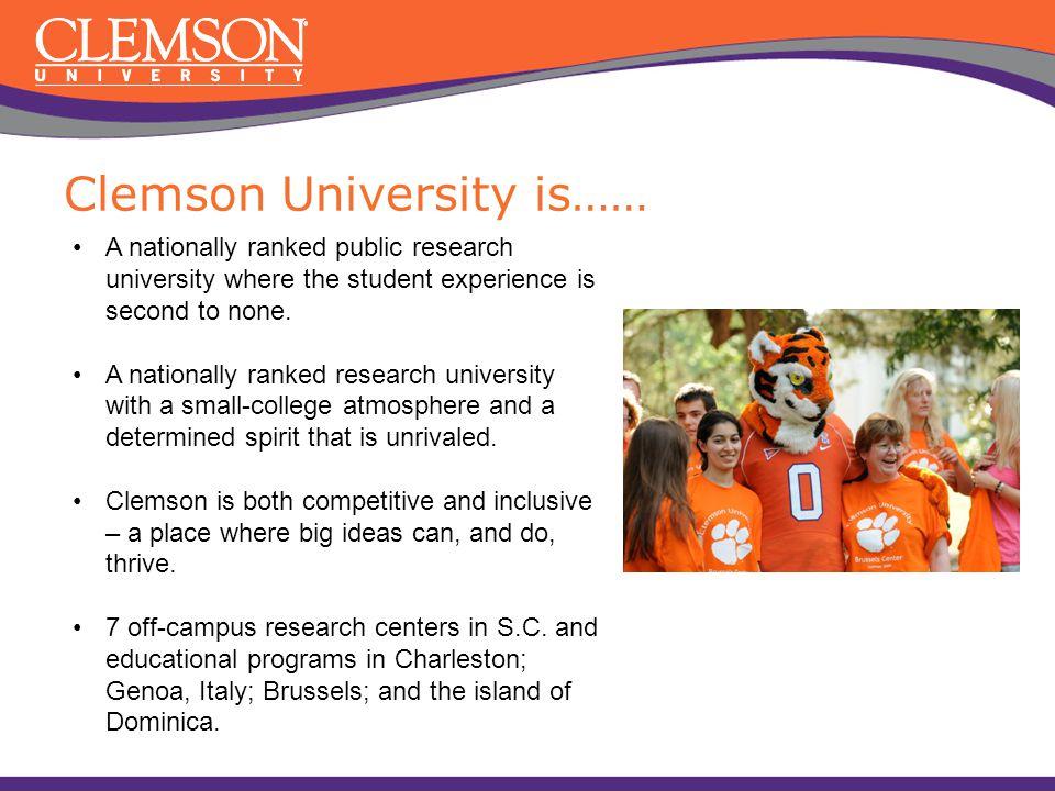 Clemson University is……