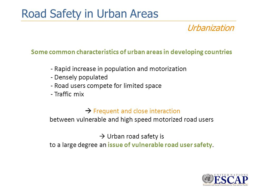 Some common characteristics of urban areas in developing countries