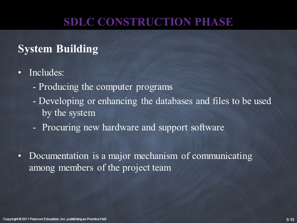 SDLC CONSTRUCTION PHASE