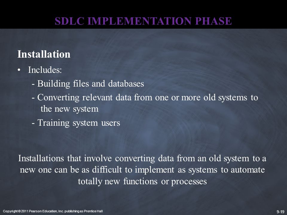 SDLC IMPLEMENTATION PHASE