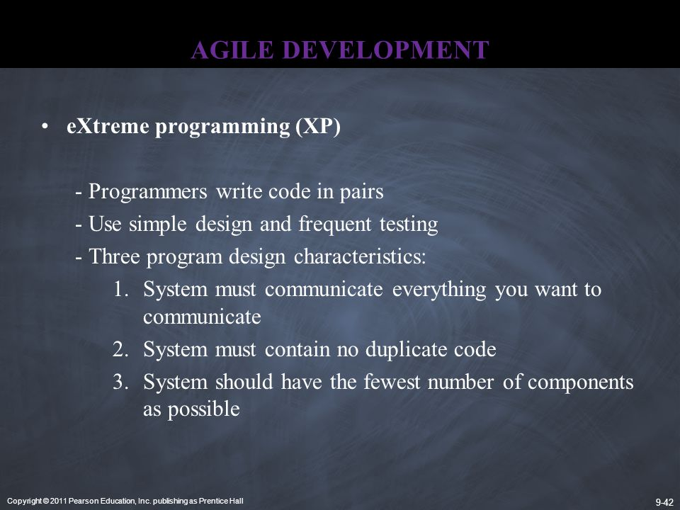 AGILE DEVELOPMENT eXtreme programming (XP)