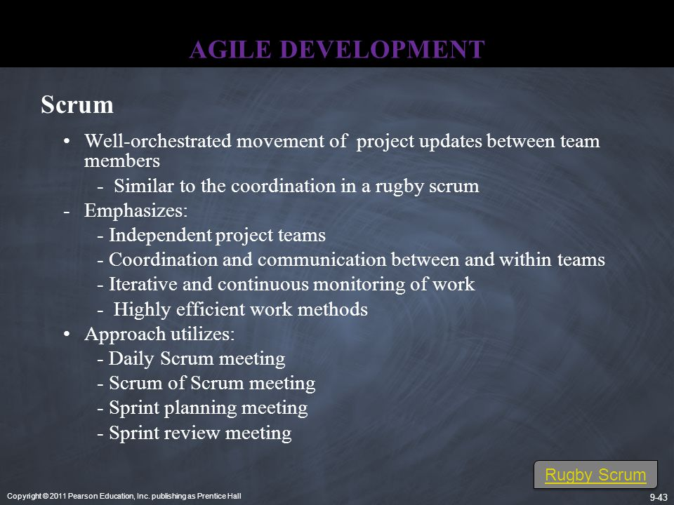 AGILE DEVELOPMENT Scrum