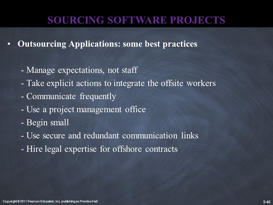 SOURCING SOFTWARE PROJECTS