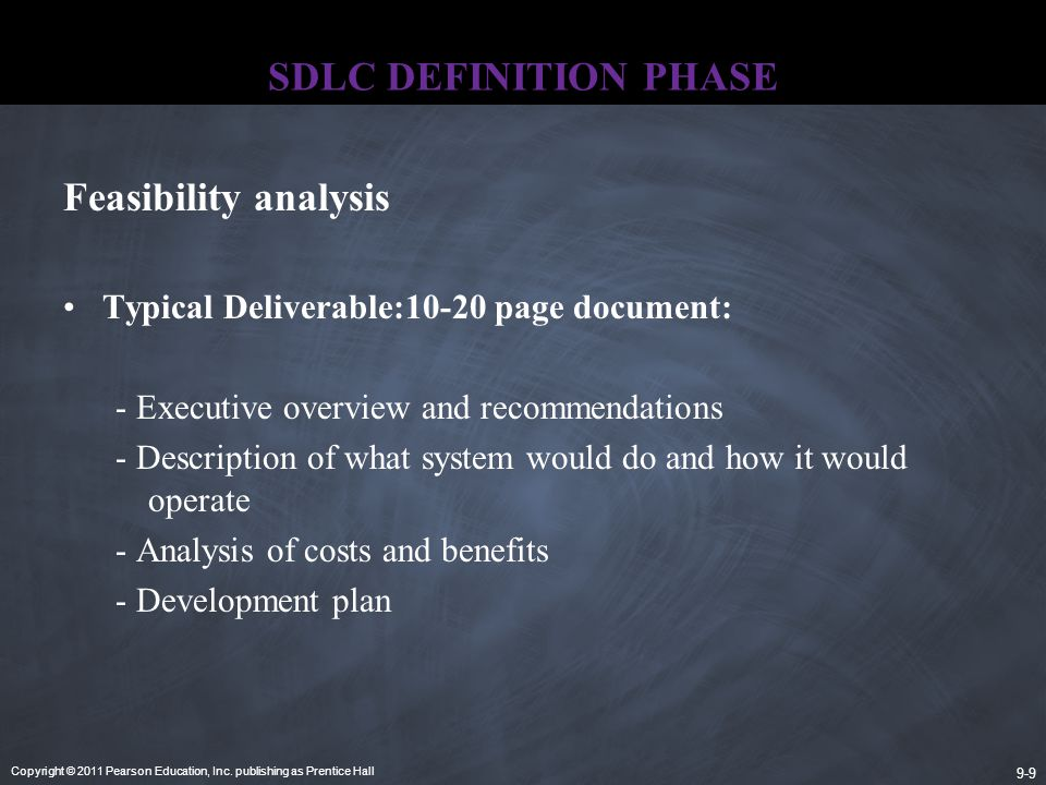SDLC DEFINITION PHASE Feasibility analysis