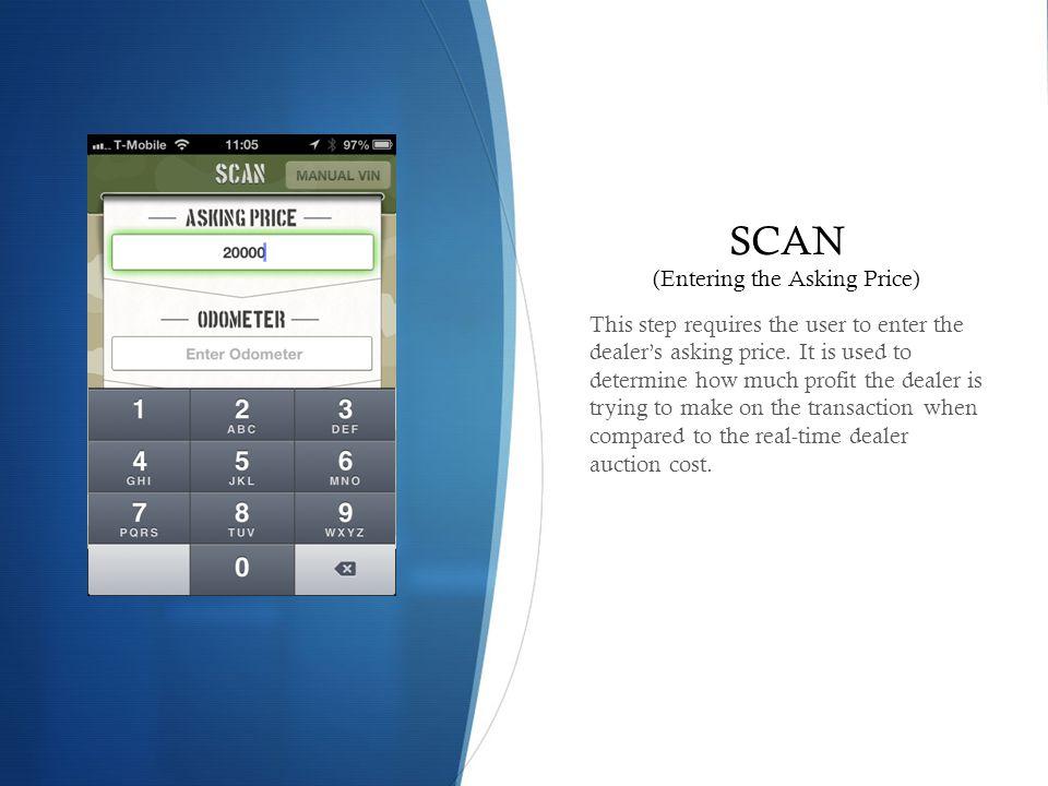 SCAN (Entering the Asking Price)