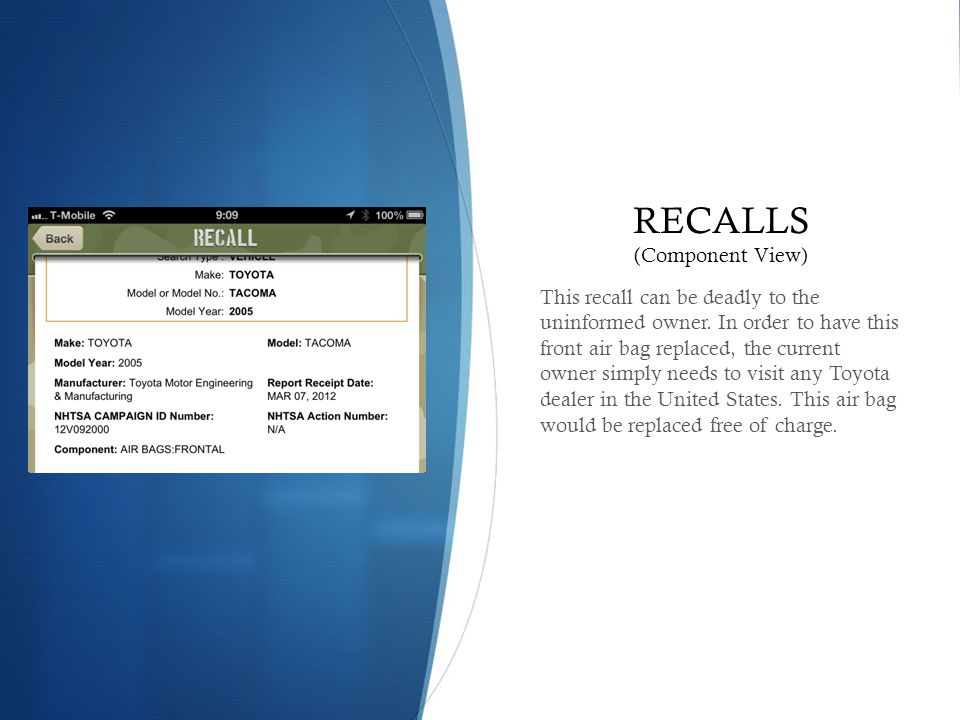 RECALLS (Component View)