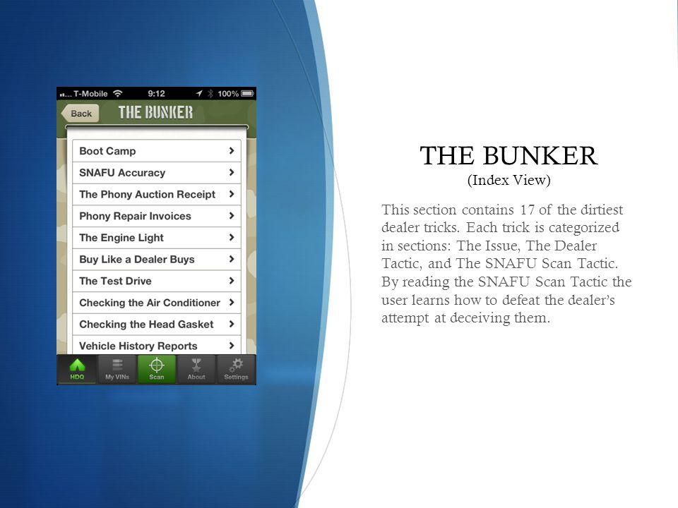 THE BUNKER (Index View)