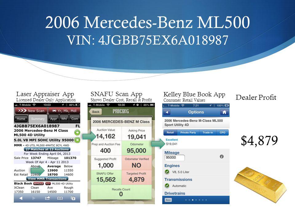 2006 Mercedes-Benz ML500 VIN: 4JGBB75EX6A018987