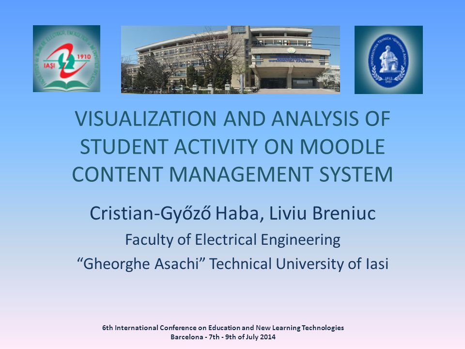 VISUALIZATION AND ANALYSIS OF STUDENT ACTIVITY ON MOODLE CONTENT MANAGEMENT SYSTEM