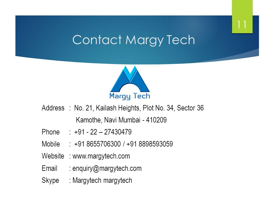 Contact Margy Tech