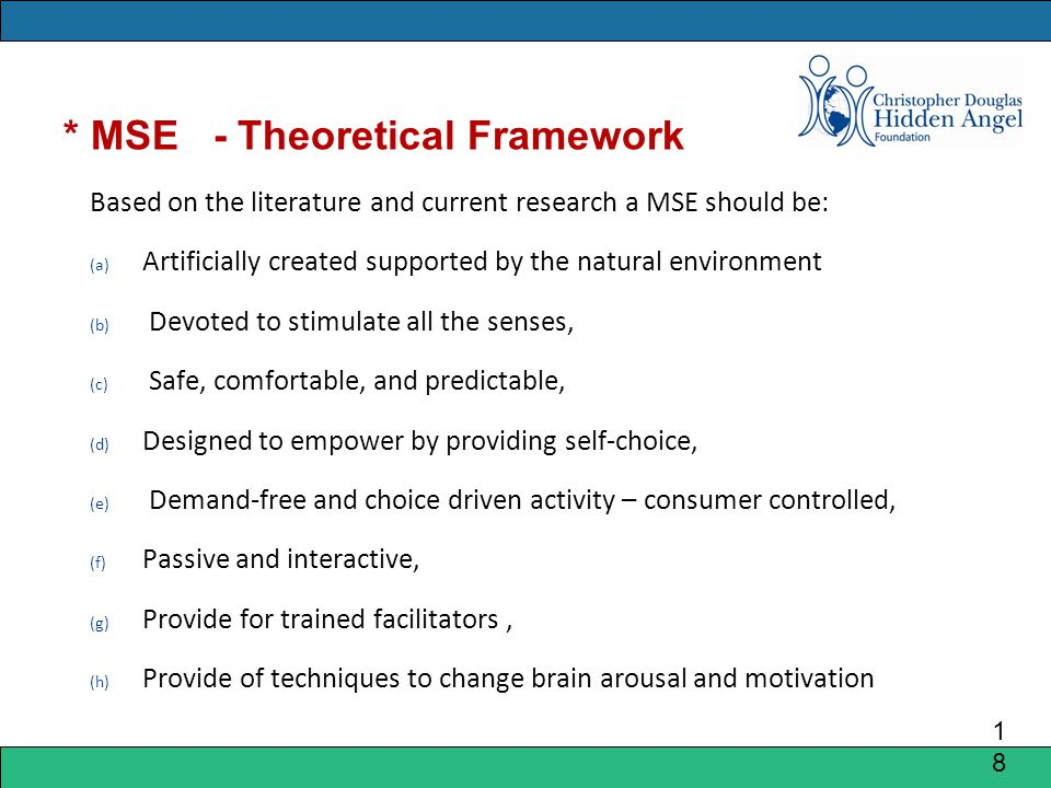 * MSE - Theoretical Framework