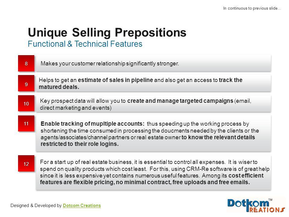 Unique Selling Prepositions
