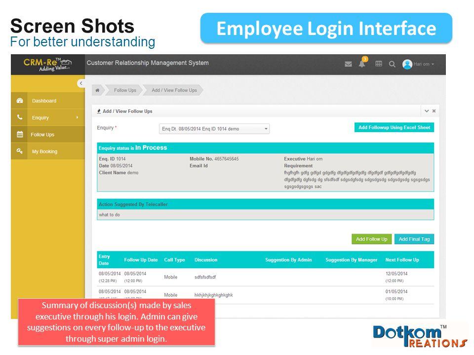 Employee Login Interface