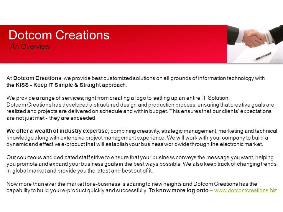 Dotcom Creations An Overview