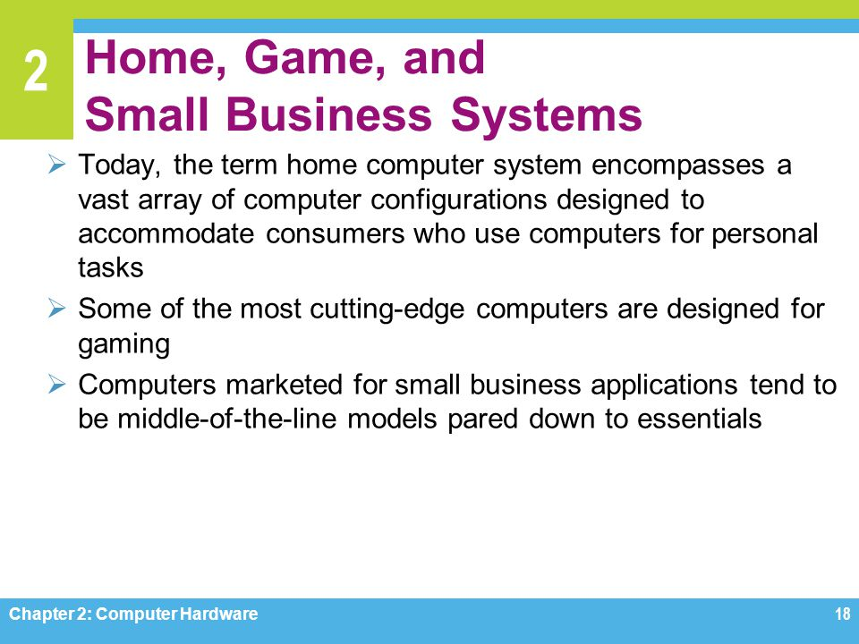Home, Game, and Small Business Systems