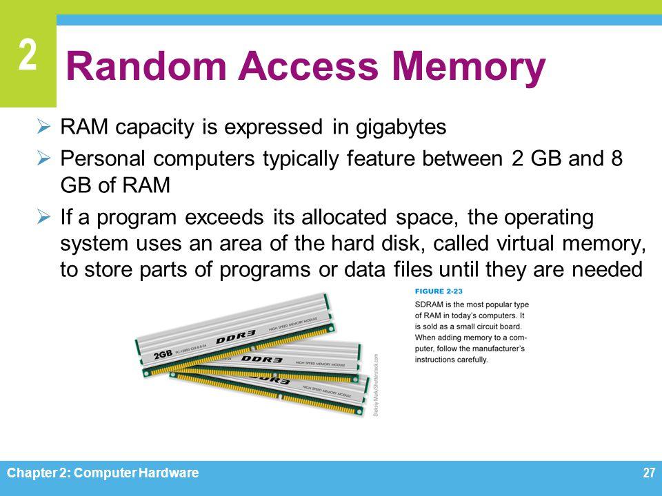 Random Access Memory RAM capacity is expressed in gigabytes