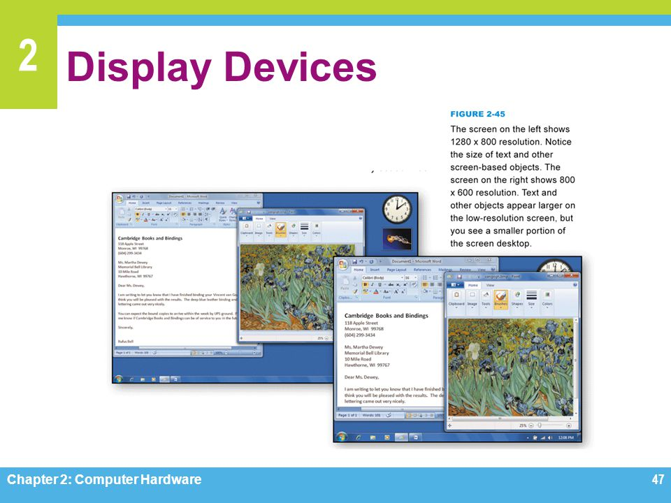 Display Devices Figure 2-45 Chapter 2: Computer Hardware
