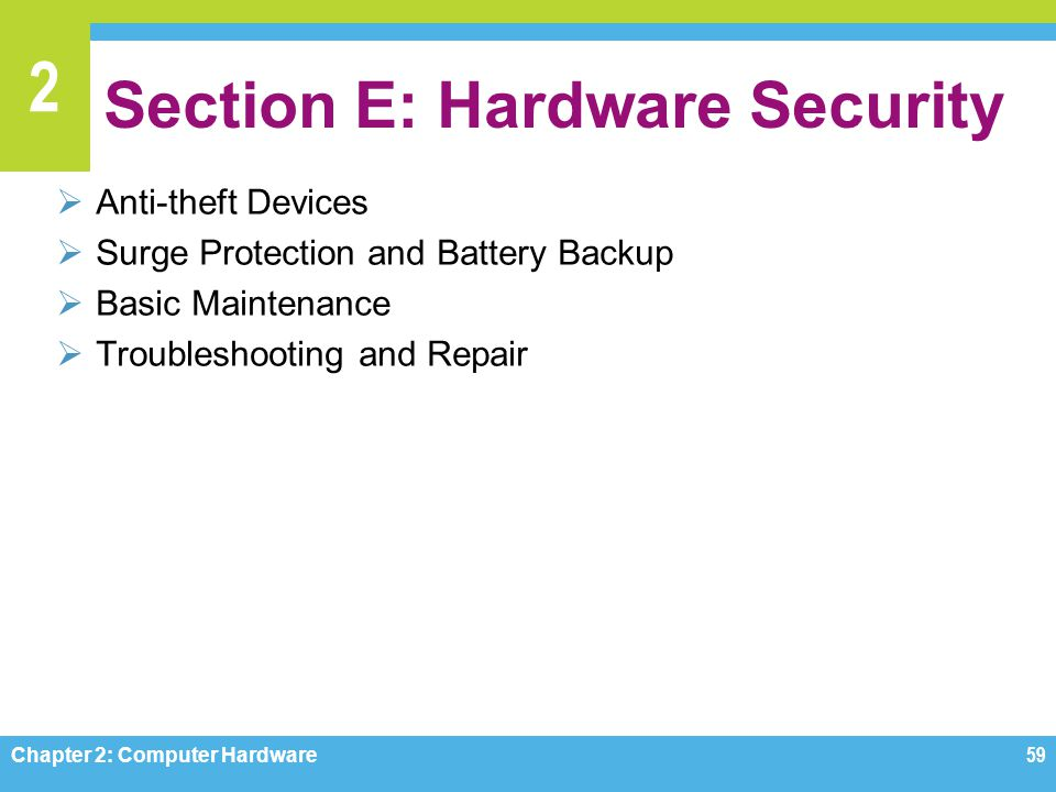 Section E: Hardware Security