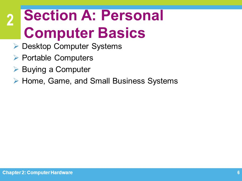 Section A: Personal Computer Basics