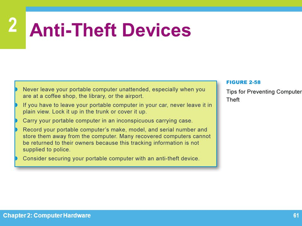 Anti-Theft Devices Figures 2-58 Chapter 2: Computer Hardware