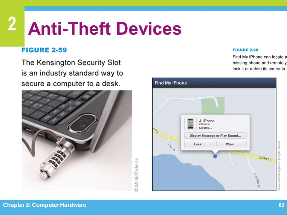 Anti-Theft Devices Figures 2-59, 2-60 Chapter 2: Computer Hardware