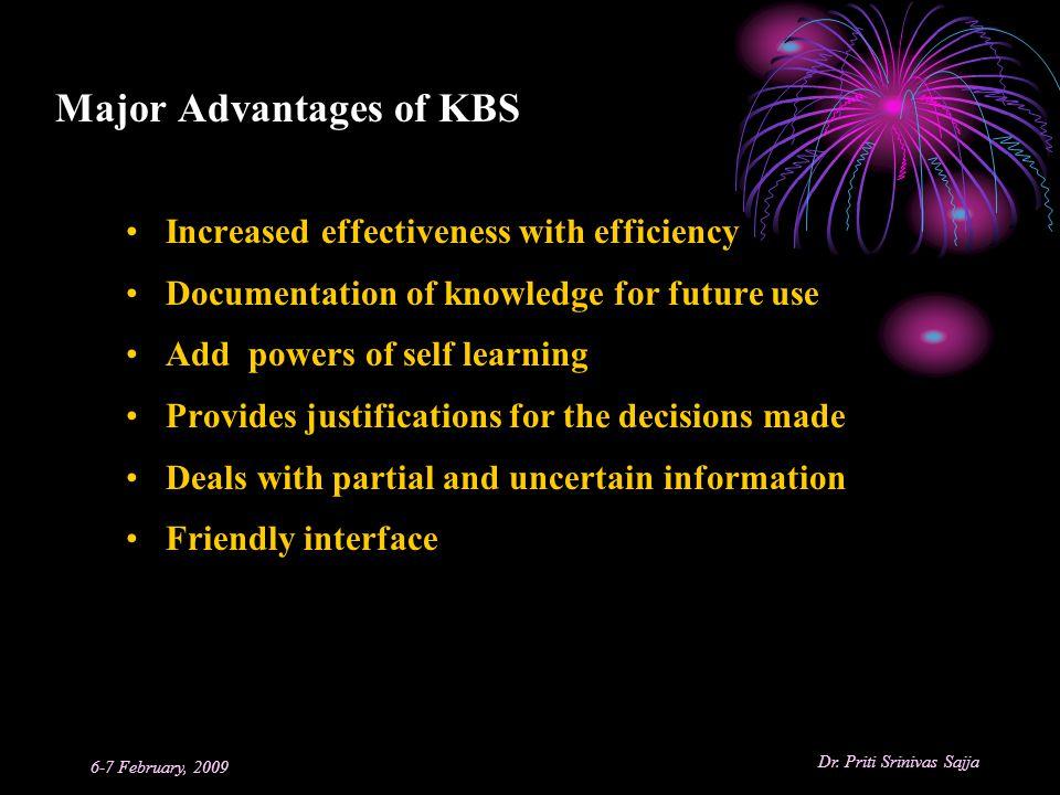 Major Advantages of KBS
