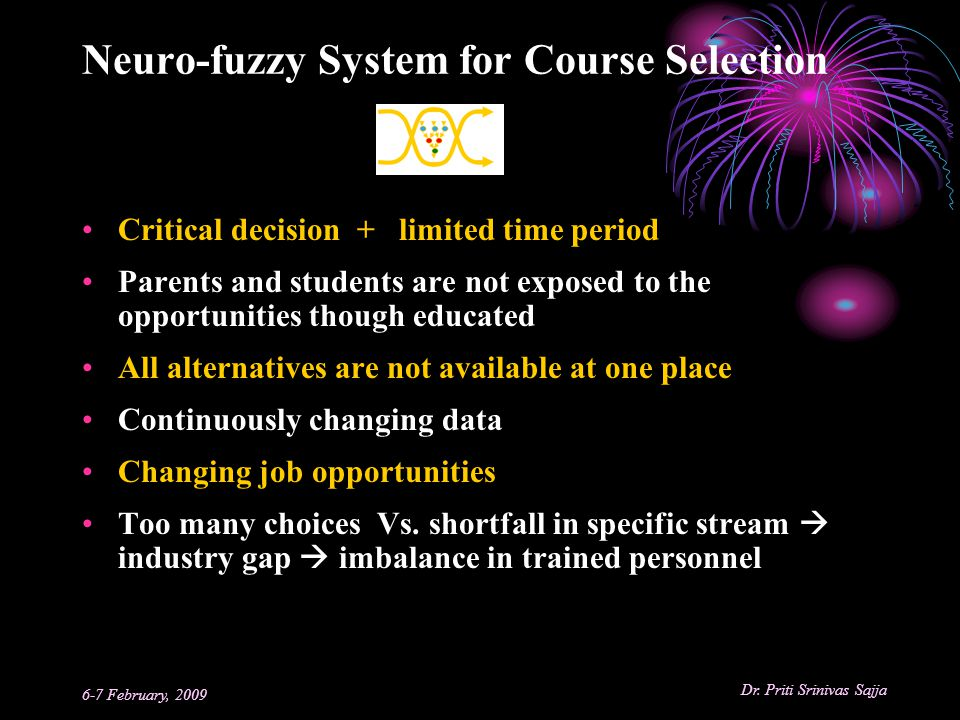 Neuro-fuzzy System for Course Selection