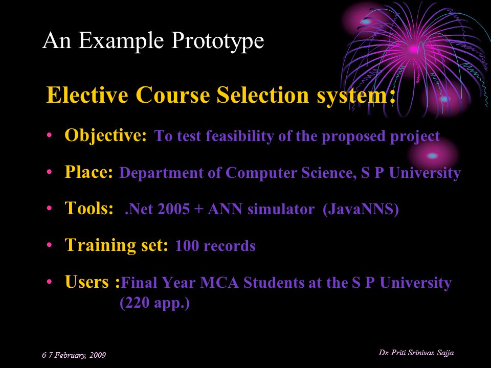 Elective Course Selection system: