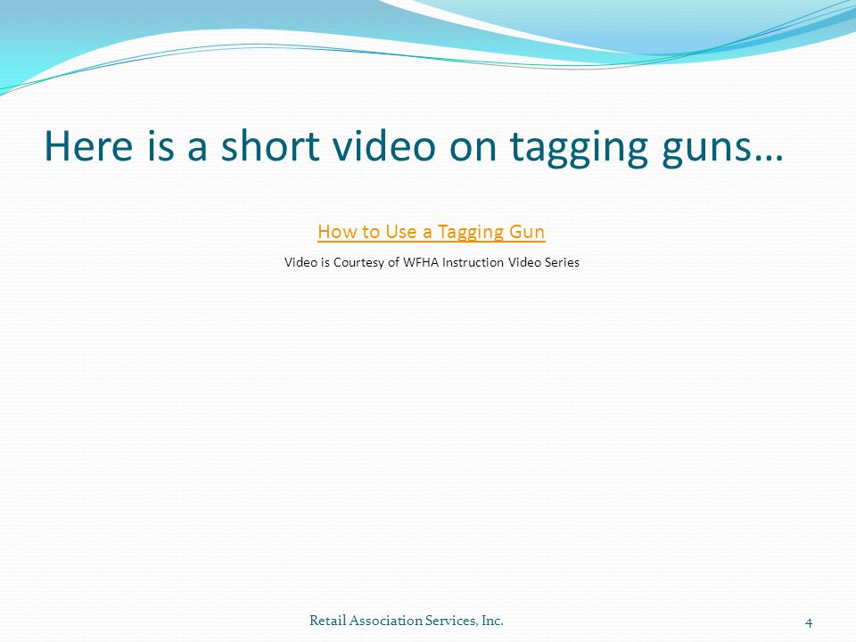 Here is a short video on tagging guns…