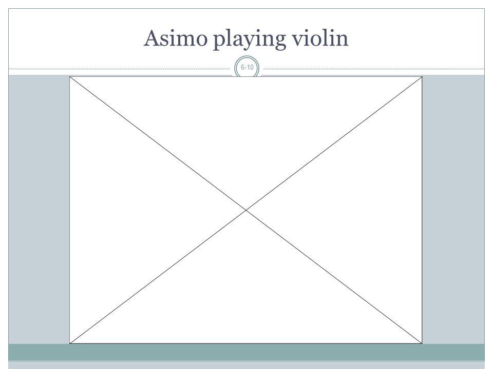 Asimo playing violin