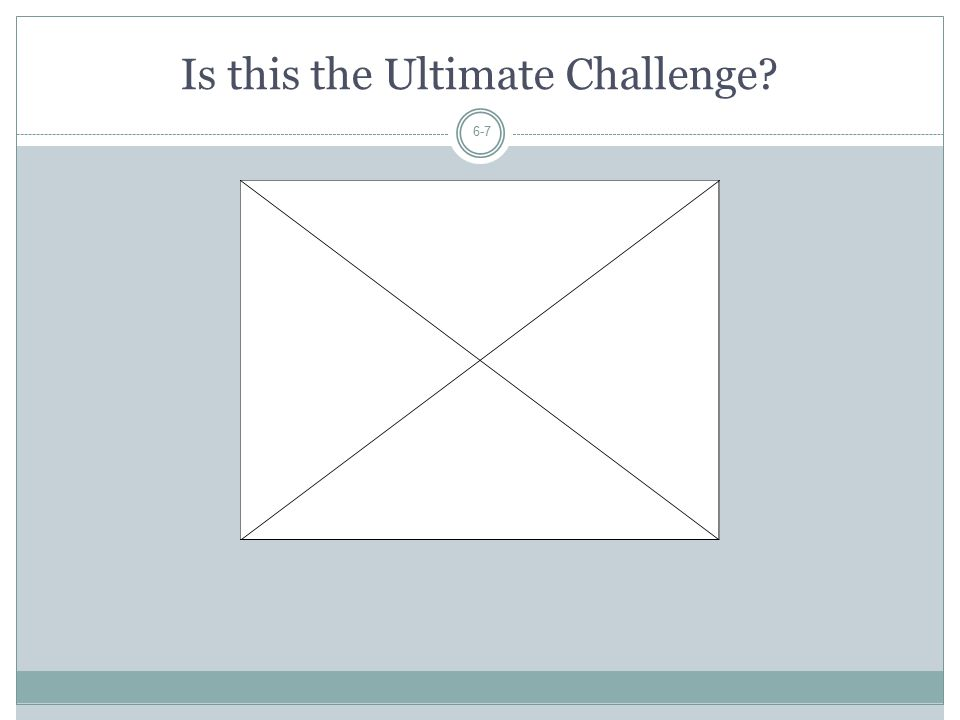 Is this the Ultimate Challenge
