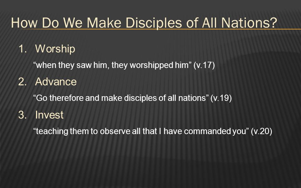 How Do We Make Disciples of All Nations