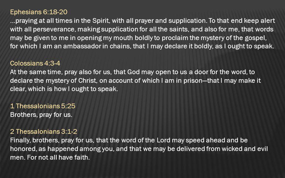 Ephesians 6:18-20