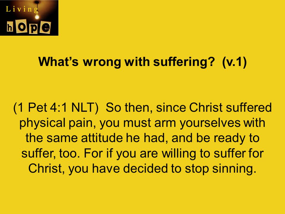 What's wrong with suffering (v.1)