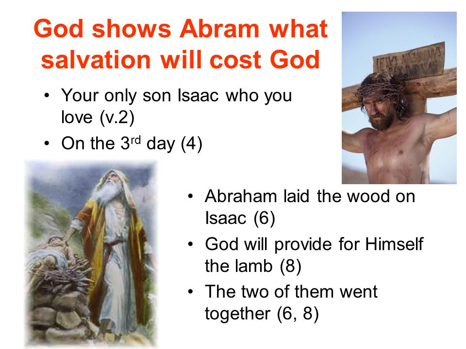 God shows Abram what salvation will cost God