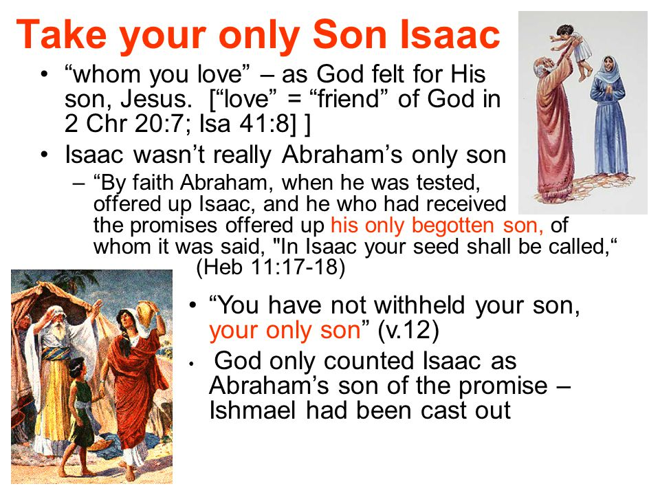 Take your only Son Isaac