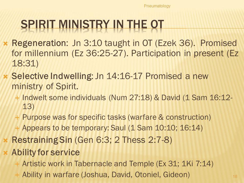 Spirit Ministry in the OT