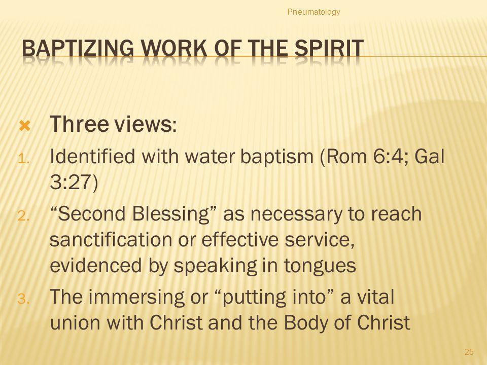 Baptizing work of the Spirit