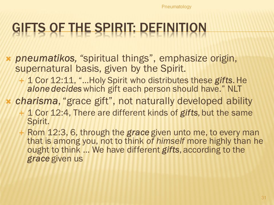 Gifts of the Spirit: Definition