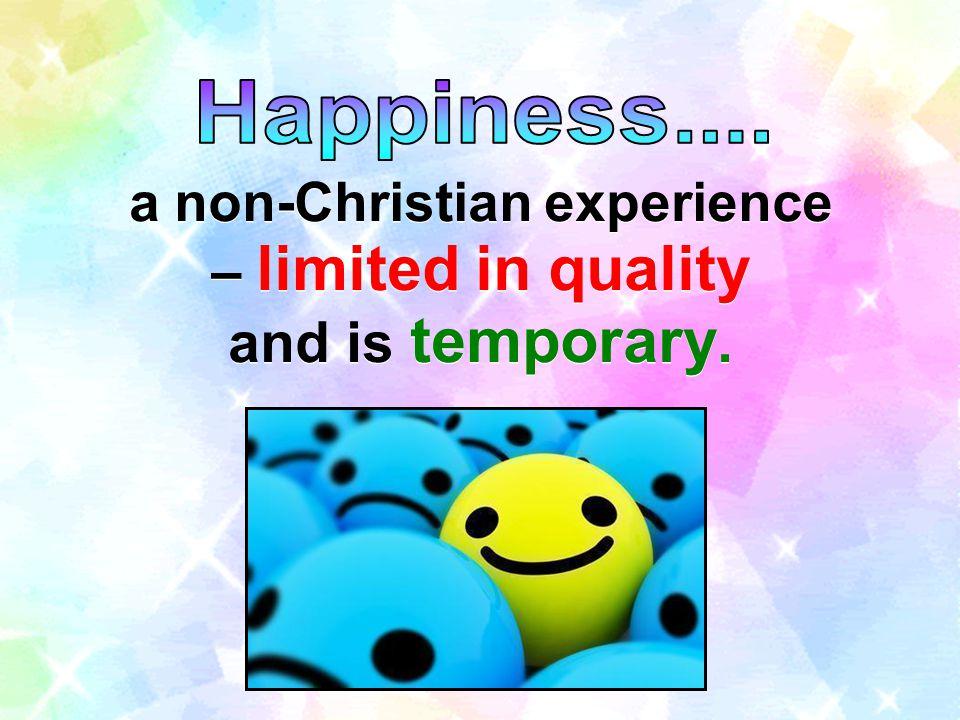 a non-Christian experience