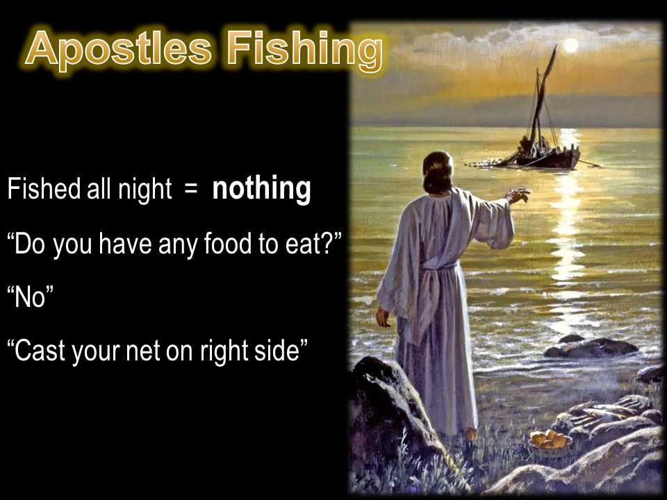 Apostles Fishing Fished all night = nothing