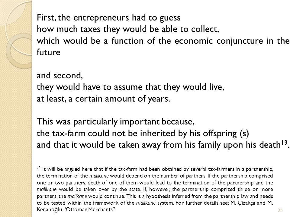 First, the entrepreneurs had to guess