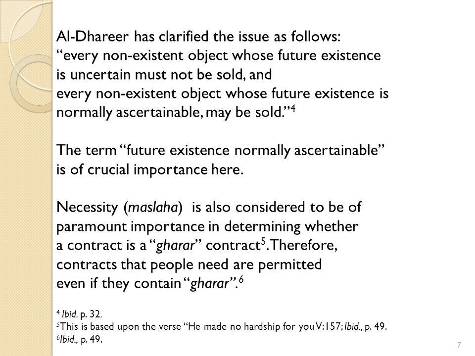 Al-Dhareer has clarified the issue as follows: