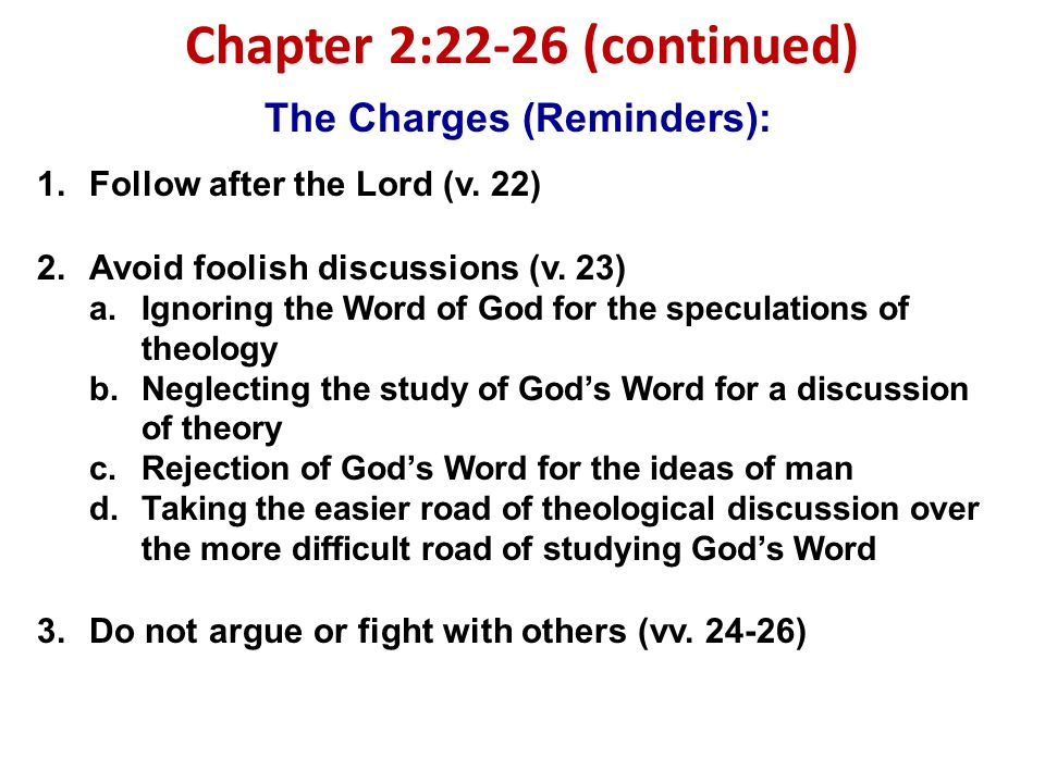 Chapter 2:22-26 (continued)