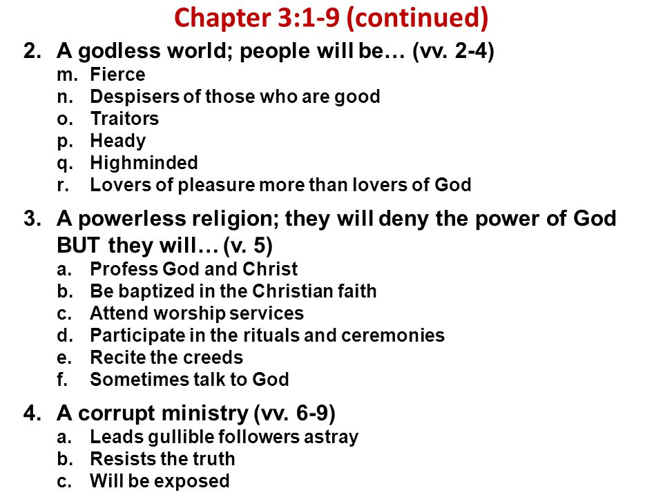 Chapter 3:1-9 (continued)