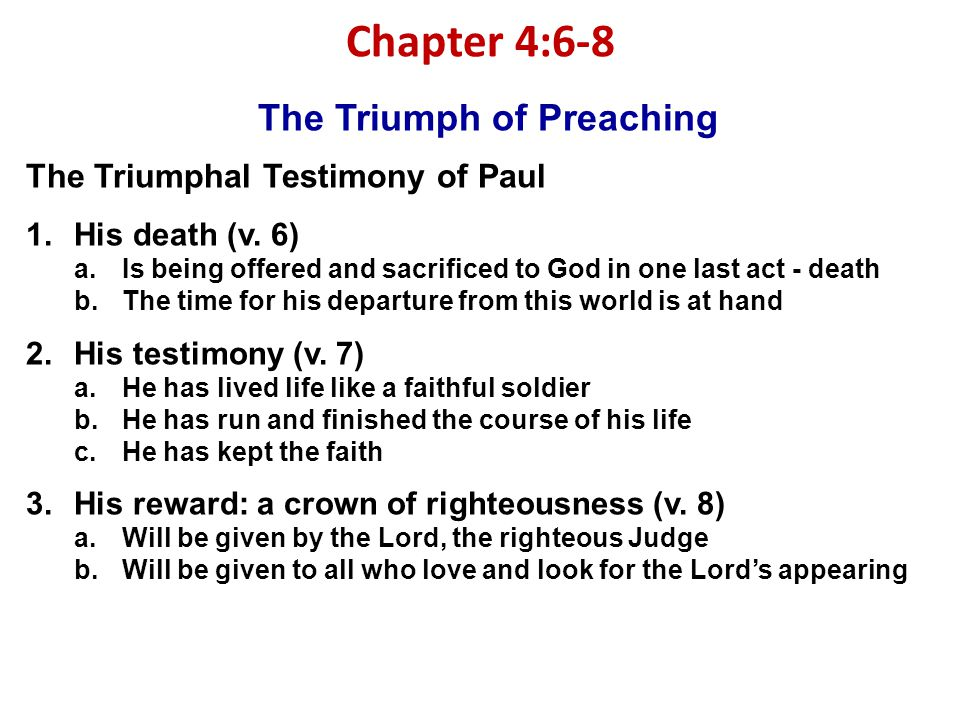 The Triumph of Preaching