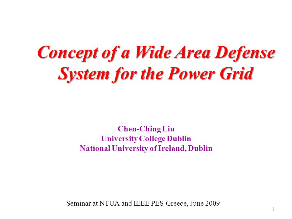 Concept of a Wide Area Defense System for the Power Grid