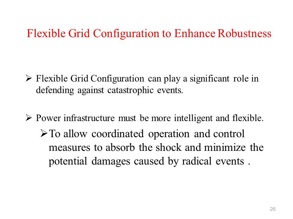 Flexible Grid Configuration to Enhance Robustness