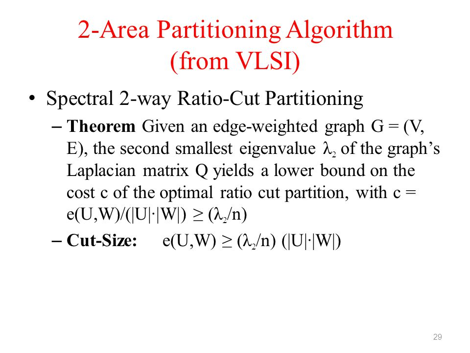 2-Area Partitioning Algorithm (from VLSI)