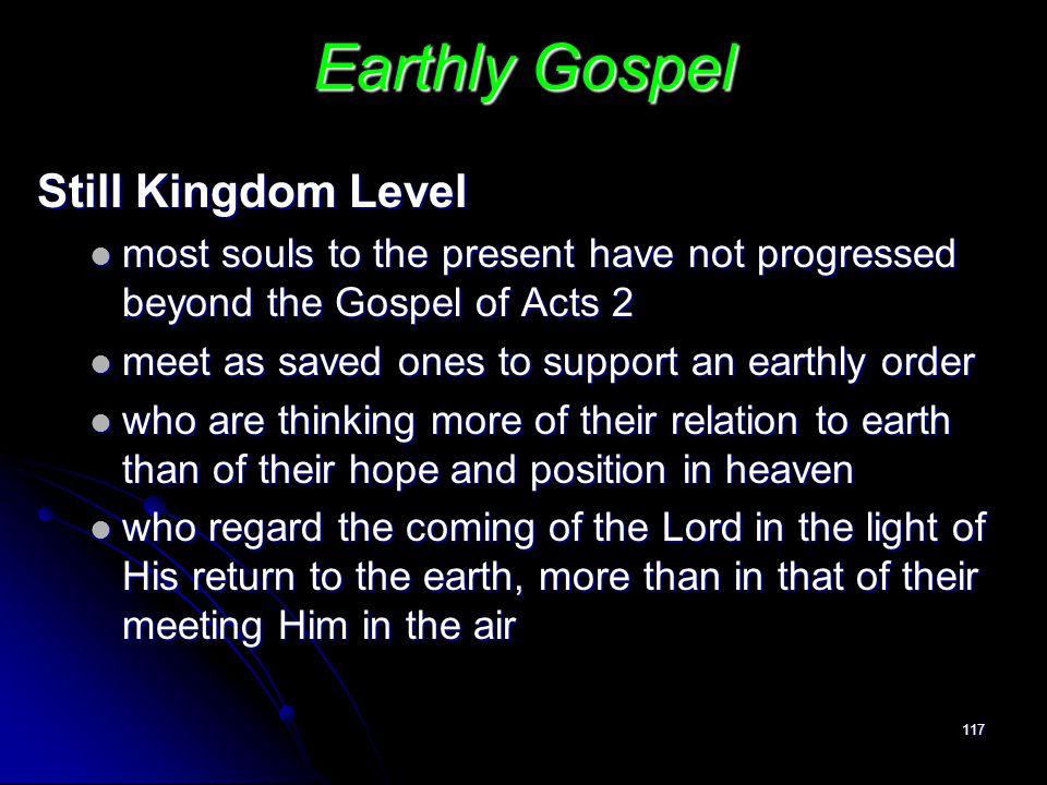 Earthly Gospel Still Kingdom Level